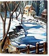 Fresh Snow In Virginia Acrylic Print