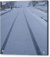 Fresh Tire Tracks In The Snow Acrylic Print