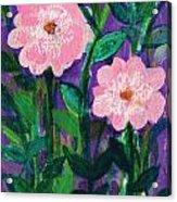 Friendship In Flowers Acrylic Print