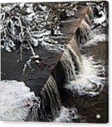 Frigid Falls Acrylic Print