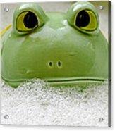 Frog In The Bath  Acrylic Print