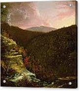 From The Top Of Kaaterskill Falls Acrylic Print by Thomas Cole