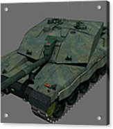 Front View Of A British Challenger II Acrylic Print