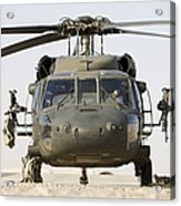 Front View Of A Uh-60l Black Hawk Acrylic Print by Terry Moore