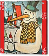 Frosty Family Poster Acrylic Print