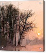 Frosty Morning At The Lake Acrylic Print