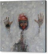 Frosty Window Acrylic Print