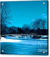 Frozen Bridge Acrylic Print