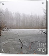 Frozen Lake In Winter Acrylic Print