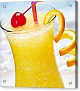 Frozen Tropical Orange Drink Acrylic Print by Elena Elisseeva