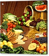 Fruit And Grain Food Group Acrylic Print