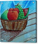 Fruit Basket Acrylic Print by Tanmay Singh