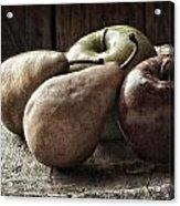 Fruit On A Wooden Stool Acrylic Print