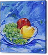 Fruit On Blue Acrylic Print