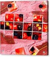 Fruit Square Ups Acrylic Print