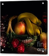 Fruit Still Life With Wine Acrylic Print