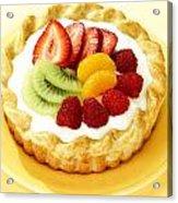 Fruit Tart Acrylic Print