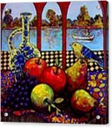 Fruits And River Acrylic Print