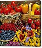 Fruits And Vegetables Acrylic Print