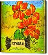 Fruits Of The Spirit Acrylic Print