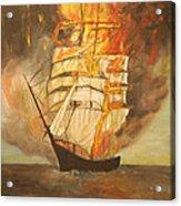 Fuego Al Mar Acrylic Print
