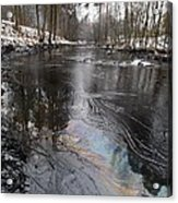 Fuel Oil Spill In A River Acrylic Print