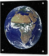 Full Earth Showing Africa And Europe Acrylic Print