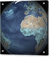 Full Earth Showing Evaporation Acrylic Print