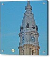 Full Moon And Billy Penn Acrylic Print