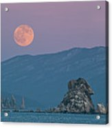 Full Moon Over Cape Laplace. Acrylic Print by V. Serebryanskiy