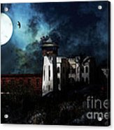 Full Moon Over Hard Time - San Quentin California State Prison - 7d18546 Acrylic Print