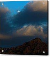 Full Moon Over Sedona Acrylic Print