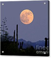 Full Moon Rise Gold Canyon Az Acrylic Print