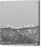 Full Moon Setting Over The Co Rocky Mountains Bw Acrylic Print