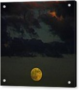 Full Moon Sunset Acrylic Print