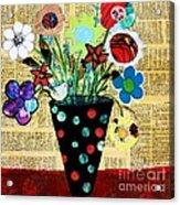 Funky Flowers Acrylic Print