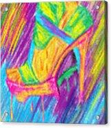 Funky Stilettos Impression Acrylic Print by Kenal Louis