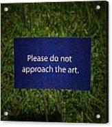 Funny Sign Acrylic Print