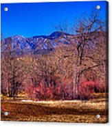 Furrowed Field At South Platte Park Acrylic Print