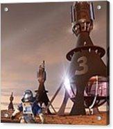 Future Mars Exploration, Artwork Acrylic Print