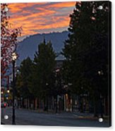 G Street Sunrise In Our Town Acrylic Print