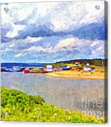 Gabarus Cape Breton Nova Scotia Fishing Village Acrylic Print