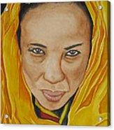 Gabbra Woman In Yellow Acrylic Print