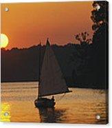 Gaff-rigged Catboat Sails Acrylic Print