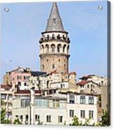 Galata Tower In Istanbul Acrylic Print