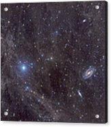 Galaxies M81 And M82 As Seen Acrylic Print by John Davis