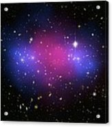 Galaxy Cluster Collision, X-ray Image Acrylic Print by Nasaesacxcstscim. Bradac And S. Allen