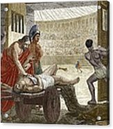 Galen Treating A Gladiator In Pergamum Acrylic Print