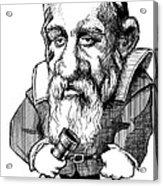 Galileo Galilei, Caricature Acrylic Print