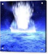 Gamma Ray Burst Eruption Acrylic Print by Nasa